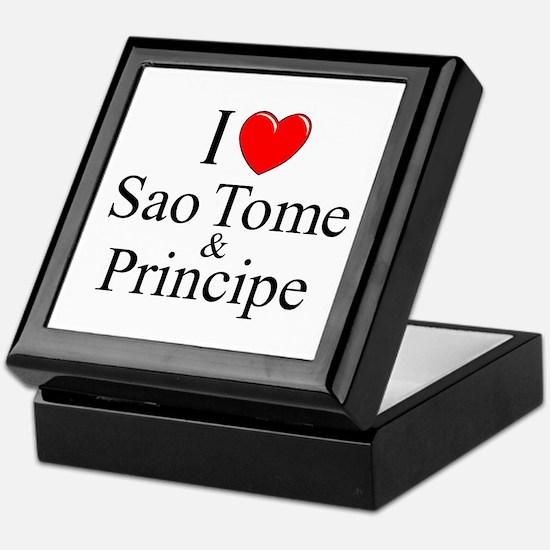 """""""I Love Sao Tome & Principe"""" Keepsake Box"""
