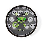 Scary Alien Neko Wall Clock