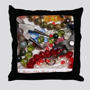 To Bead...? Throw Pillow