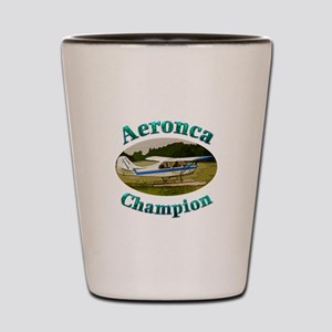Aeronca Champ on floats Shot Glass