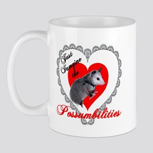 Possum Valentines Day Heart Mug