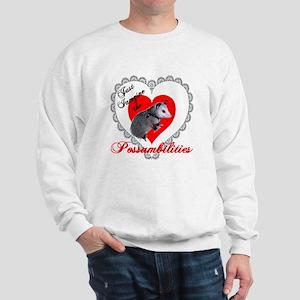 Possum Valentines Day Heart Sweatshirt