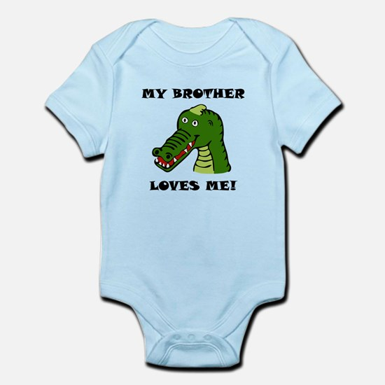 My Brother Loves Me Alligator Body Suit