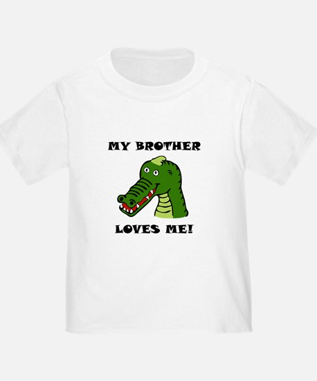 My Brother Loves Me Alligator T-Shirt
