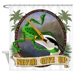 Never Give Up v.2 Shower Curtain