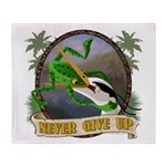 Never Give Up v.2 Throw Blanket