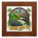 Never Give Up v.2 Framed Tile