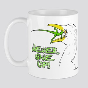 Never Give Up Lizard Mug