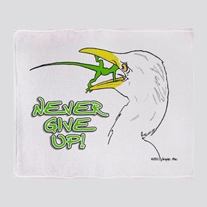 Never Give Up Lizard Throw Blanket
