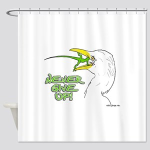 Never Give Up Lizard Shower Curtain