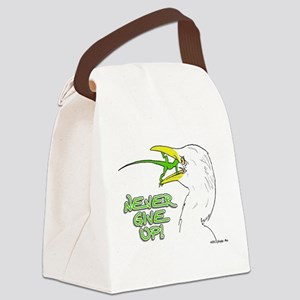 Never Give Up Lizard Canvas Lunch Bag