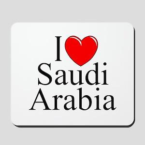 """I Love Saudi Arabia"" Mousepad"