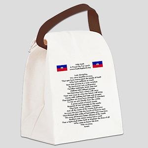 help_haiti_prayer_flags1024x1024 Canvas Lunch Bag