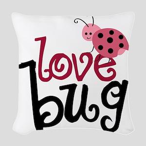 lovebug Woven Throw Pillow