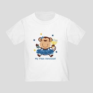 Monkey Girl 1st Hanukkah Toddler T-Shirt
