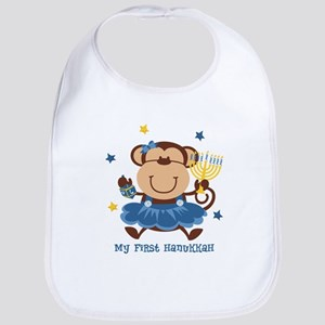 Monkey Girl 1st Hanukkah Bib