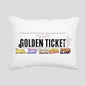 Golden Ticket Rectangular Canvas Pillow