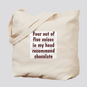 Chocolate Voices Tote Bag