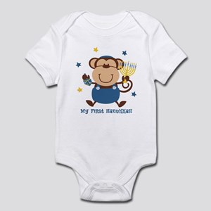 Monkey Boy 1st Hanukkah Infant Bodysuit
