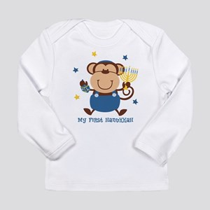 Monkey Boy 1st Hanukkah Long Sleeve Infant T-Shirt
