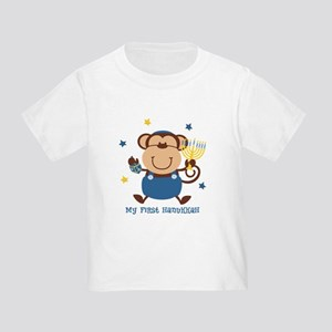 Monkey Boy 1st Hanukkah Toddler T-Shirt