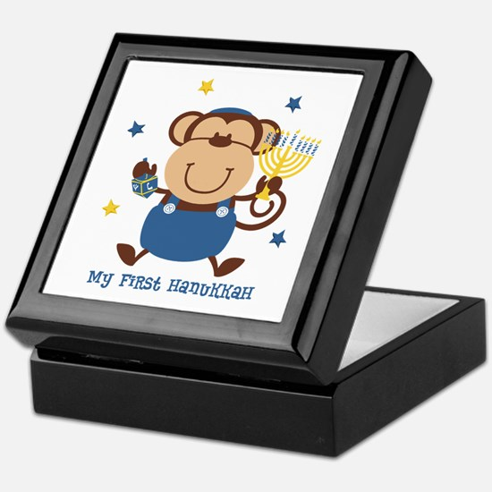 Monkey Boy 1st Hanukkah Keepsake Box