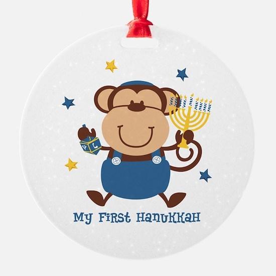 Monkey Boy 1st Hanukkah Ornament