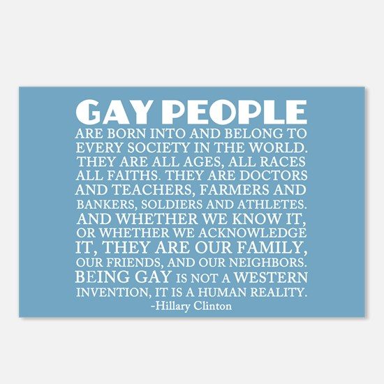 Gay People Clinton Quote Postcards (Package of 8)