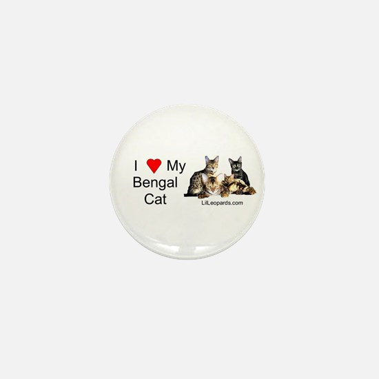 Cute Bengal cat Mini Button