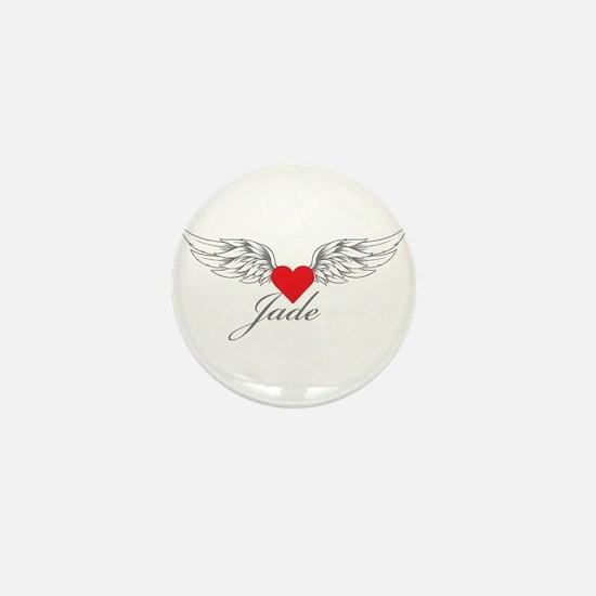 Angel Wings Jade Mini Button