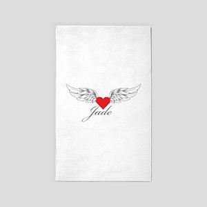 Angel Wings Jade 3'x5' Area Rug