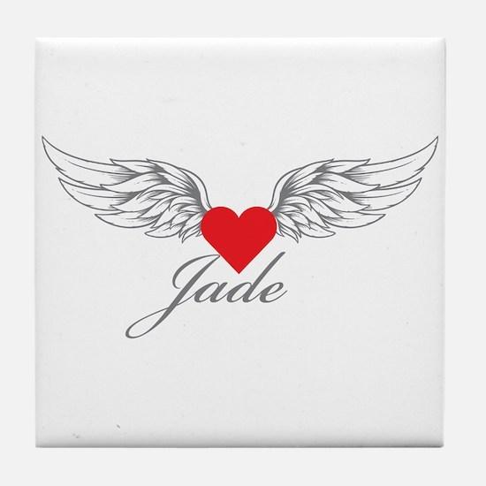 Angel Wings Jade Tile Coaster