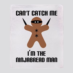 Ninjabread Man Throw Blanket