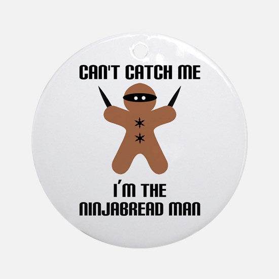 Ninjabread Man Ornament (Round)