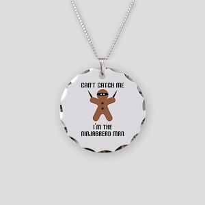 Ninjabread Man Necklace Circle Charm
