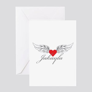 Angel Wings Jakayla Greeting Cards