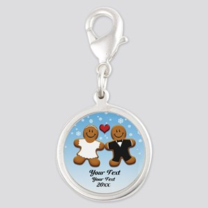 Personalize Gingerbread Bride and Groom Silver Rou