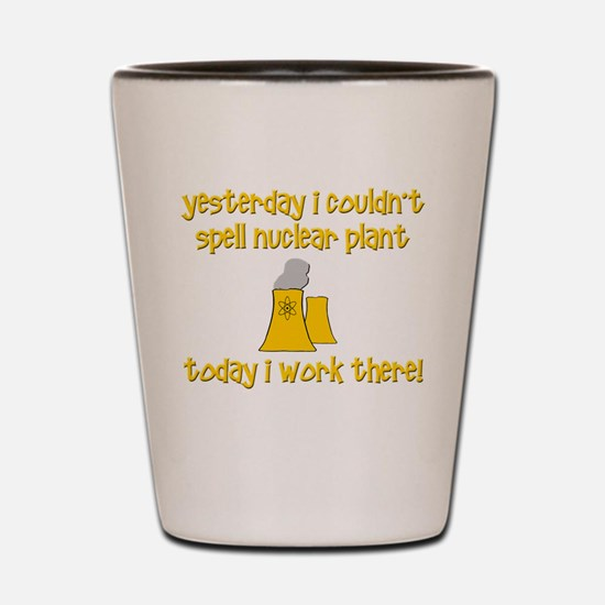 Funny Nuclear Shot Glass