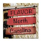 Flavor, NC Town Limits Tile Coaster / Spoon Rest