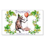 BrewRat Club Rectangle Sticker