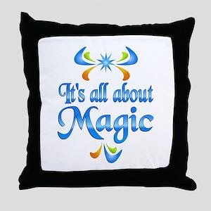 About Magic Throw Pillow