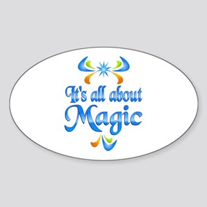 About Magic Sticker (Oval)