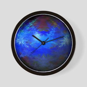 Abstract Blue Globe Wall Clock