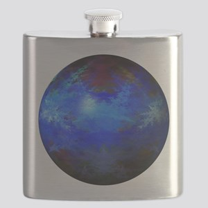 Abstract Blue Globe Flask