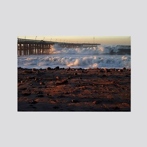 Ocean Wave Storm Pier Rectangle Magnet