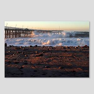 Ocean Wave Storm Pier Postcards (Package of 8)