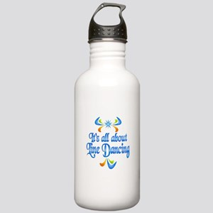 About Line Dancing Stainless Water Bottle 1.0L