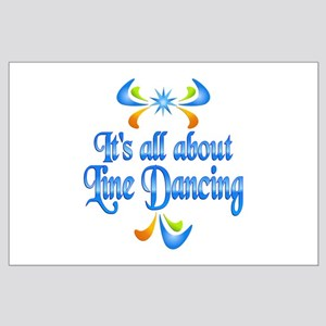 About Line Dancing Large Poster