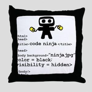 I code like a ninja Throw Pillow