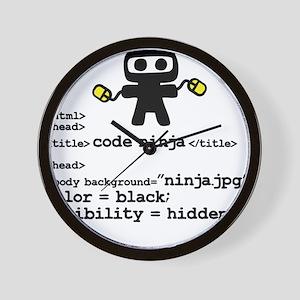 I code like a ninja Wall Clock